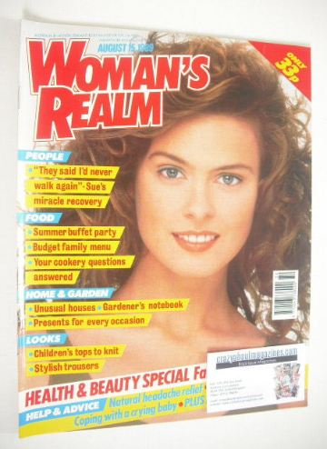<!--1989-08-15-->Woman's Realm magazine (15 August 1989)