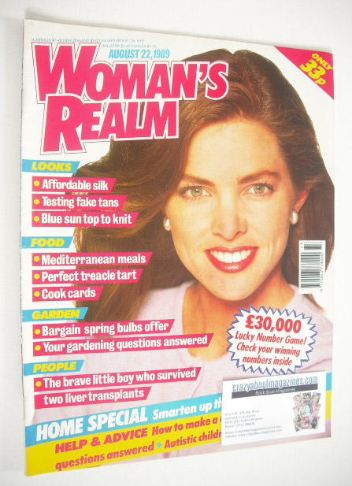 <!--1989-08-22-->Woman's Realm magazine (22 August 1989)