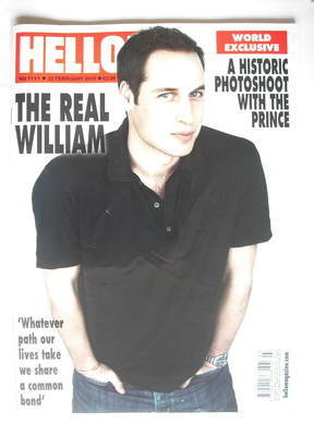 <!--2010-02-22-->Hello! magazine - Prince William cover (22 February 2010 -