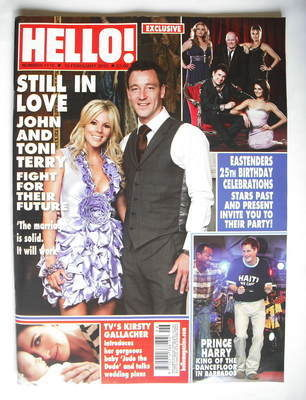 <!--2010-02-15-->Hello! magazine - John Terry and Toni cover (15 February 2
