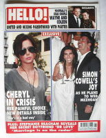 <!--2010-03-01-->Hello! magazine - Cheryl Cole and Simon Cowell cover (1 March 2010 - Issue 1112)