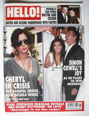 <!--2010-03-01-->Hello! magazine - Cheryl Cole and Simon Cowell cover (1 Ma