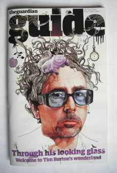 The Guardian Guide magazine - Tim Burton cover (6 March 2010)
