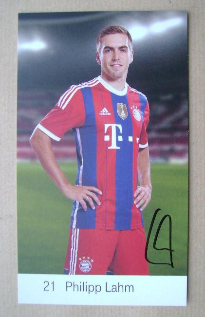 Philipp Lahm autograph
