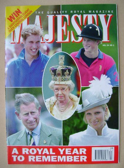 <!--2003-01-->Majesty magazine - January 2003 (Volume 24 No 1)