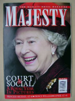 Majesty magazine - The Queen cover (January 2005 - Volume 26 No 1)