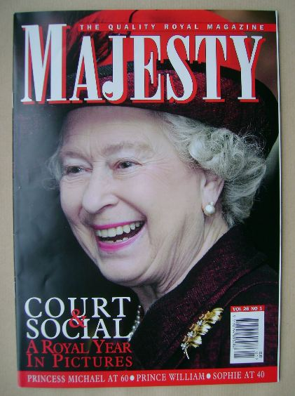 <!--2005-01-->Majesty magazine - The Queen cover (January 2005 - Volume 26