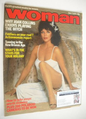 <!--1979-07-07-->Woman magazine - Joan Collins cover (7 July 1979)