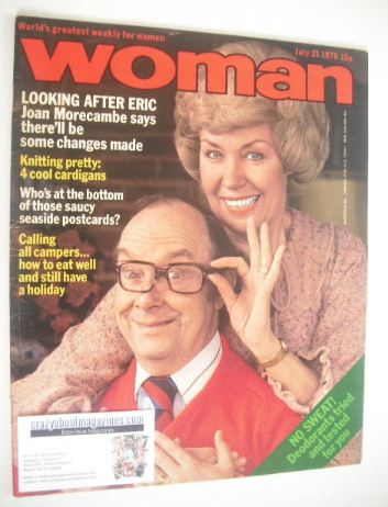 <!--1979-07-21-->Woman magazine - Joan and Eric Morecambe cover (21 July 19