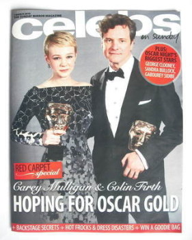 Celebs magazine - Colin Firth and Carey Mulligan cover (7 March 2010)