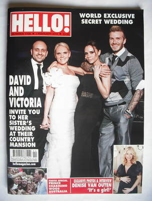 <!--2010-02-01-->Hello! magazine - Louise Adams and Darren Flood wedding co