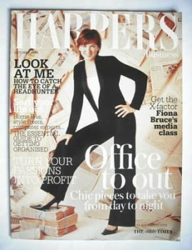 Harpers & Queen supplement - Office To Out cover (October 2005 - Fiona Bruce cover)