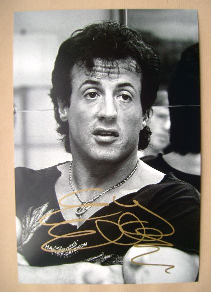 Sylvester Stallone autograph (hand-signed photograph)