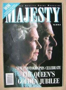 Majesty magazine - The Queen and Prince Philip cover (April 2002 - Volume 23 No 4)