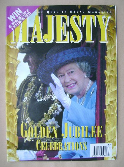 <!--2002-07-->Majesty magazine - The Queen cover (July 2002 - Volume 23 No
