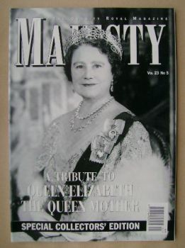 Majesty magazine - The Queen Mother cover (May 2002 - Volume 23 No 5)