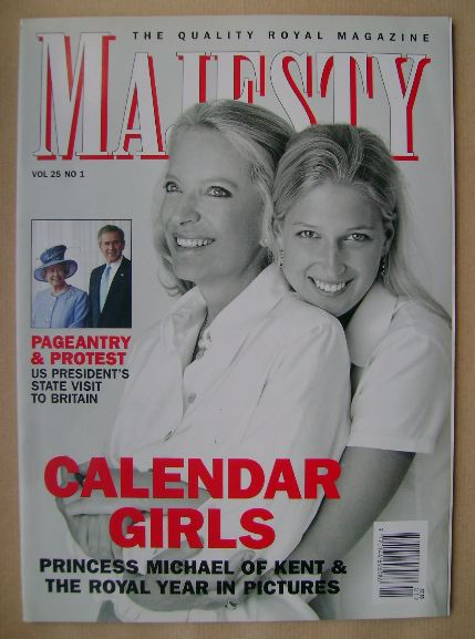 <!--2004-01-->Majesty magazine - Princess Michael of Kent and Lady Gabriell