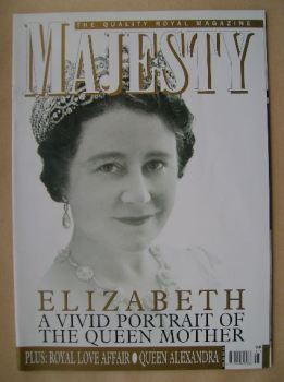 Majesty magazine - The Queen Mother cover (November 2005 - Volume 26 No 11)