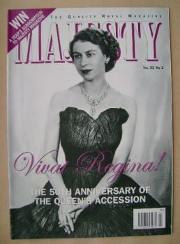 Majesty magazine - The Queen cover (February 2002 - Volume 23 No 2)