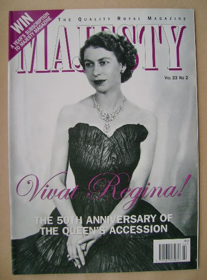 <!--2002-02-->Majesty magazine - The Queen cover (February 2002 - Volume 23