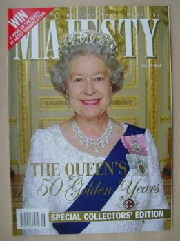 Majesty magazine - The Queen cover (June 2002 - Volume 23 No 6)