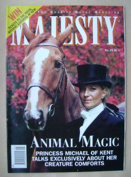 Majesty magazine - Princess Michael of Kent cover (January 2002 - Volume 23 No 1)