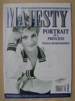 Majesty magazine - Princess Diana cover (September 2004 - Volume 25 No 9)