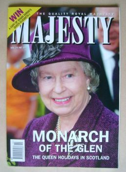 Majesty magazine - The Queen cover (October 2003 - Volume 24 No 10)