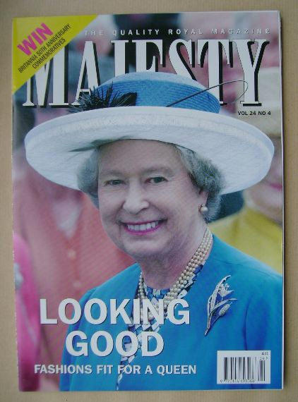 <!--2003-04-->Majesty magazine - The Queen cover (April 2003 - Volume 24 No