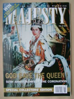 Majesty magazine - The Queen cover (June 2003 - Volume 24 No 6)