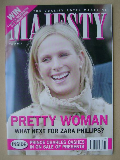 <!--2003-05-->Majesty magazine - Zara Phillips cover (May 2003 - Volume 24