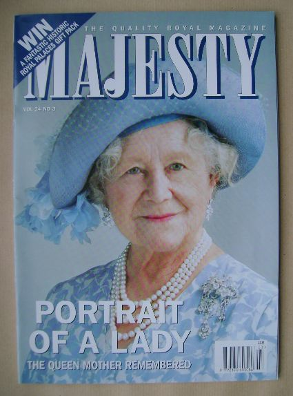 <!--2003-03-->Majesty magazine - The Queen Mother cover (March 2003 - Volum