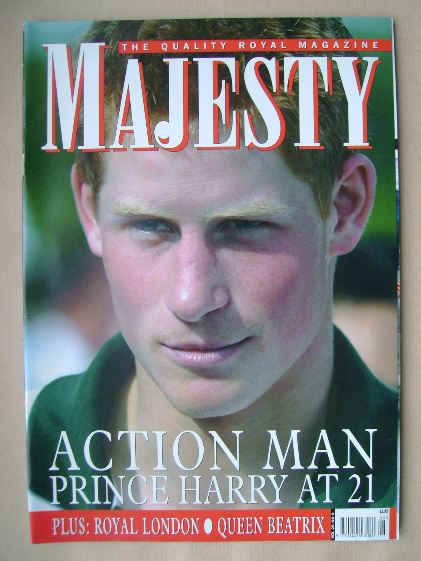 <!--2005-09-->Majesty magazine - Prince Harry cover (September 2005 - Volum