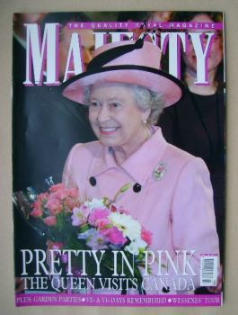 Majesty magazine - The Queen cover (July 2005 - Volume 26 No 7)