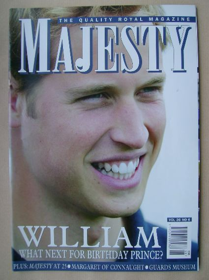 <!--2005-06-->Majesty magazine - Prince William cover (June 2005 - Volume 2