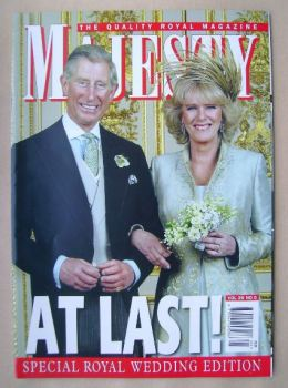 Majesty magazine - Prince Charles and Camilla Parker Bowles cover (May 2005 - Volume 26 No 5)