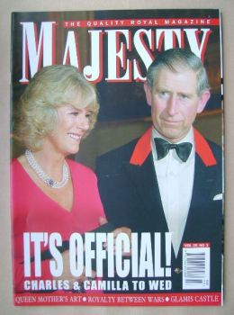 Majesty magazine - Prince Charles and Camilla Parker Bowles cover (March 2005 - Volume 26 No 3)