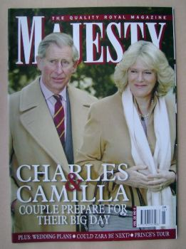 Majesty magazine - Prince Charles and Camilla Parker Bowles cover (April 2005 - Volume 26 No 4)