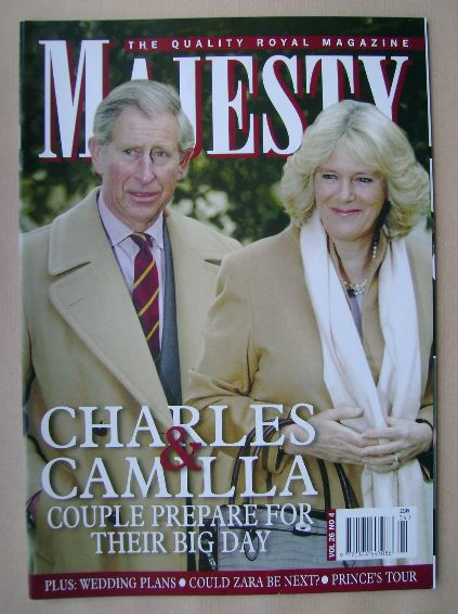 <!--2005-04-->Majesty magazine - Prince Charles and Camilla Parker Bowles c
