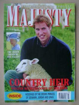 Majesty magazine - Prince William cover (July 2004 - Volume 25 No 7)