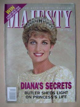 Majesty magazine - Princess Diana cover (December 2002 - Volume 23 No 12)