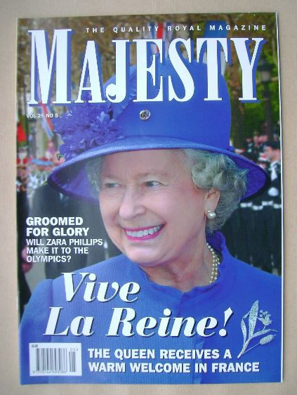 <!--2004-05-->Majesty magazine - The Queen cover (May 2004 - Volume 25 No 5