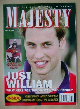Majesty magazine - Prince William cover (June 2004 - Volume 25 No 6)