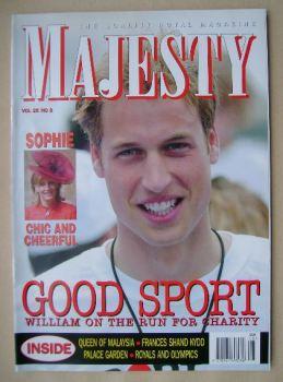 Majesty magazine - Prince William cover (August 2004 - Volume 25 No 8)