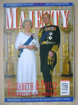 Majesty magazine - The Queen and Prince Philip cover (November 2004 - Volume 25 No 11)