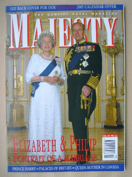 <!--2004-11-->Majesty magazine - The Queen and Prince Philip cover (Novembe
