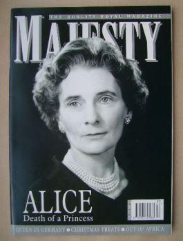 Majesty magazine - Princess Alice cover (December 2004 - Volume 25 No 12)