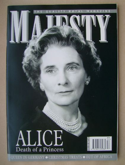 <!--2004-12-->Majesty magazine - Princess Alice cover (December 2004 - Volu