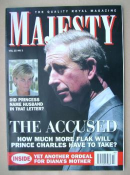 Majesty magazine - Prince Charles cover (March 2004 - Volume 25 No 3)