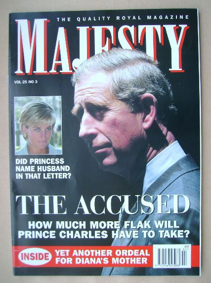 <!--2004-03-->Majesty magazine - Prince Charles cover (March 2004 - Volume